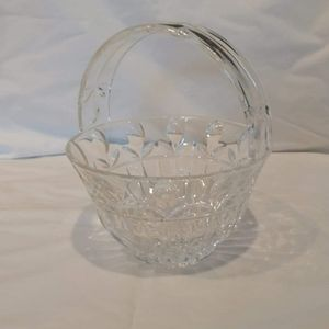Crystal Bowl with Handle/Candy Dish